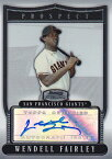 MLBカード【ウェンデル フェアリー】2007 Bowman Sterling Prospects Autograph (Wendell Fairley)