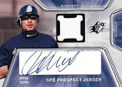 イチロー直筆サイン入りルーキージャージカード Ichiro 2001 SPx Prospect Jersey Autograph