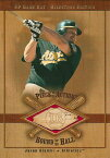 Jason Giambi 2001 SP Game Bat Milstone Piece of the Action Bound for the Hall / ジェイソン ジアンビ
