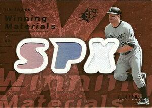 MLBカードをお探しなら!ジム トーミ 2007 SPx Winning Materials 199 Bronze 199枚限定! (00...