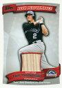 トロイ・トゥロウィツキー MLBカード Troy Tulowitzki 2010 Topps Peak Performance Relics