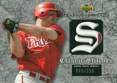 MLBカードをお探しなら!ジム・トーミ MLBカード Jim Thome 2003 UD Classic Portraits Stitche...