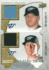 【ロイ・ハラデイ】【ジェシー・リッチ】MLBカード Roy Halladay/Jesse Litsch 2009 UD Ballpark Collection Dual Swatch 190/400