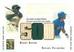 【バリー・ボンズ】【ラファエル・パルメイロ】 MLBカード Barry Bonds / Rafael Palmeiro 2003 Topps Tribute Contemporary Matching Marks Dual Relics