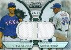【アレクシー・オガンド】【ネフタリ・フェリス】 MLBカード Alexi Ogando / Neftali Feliz 2011 Bowman Sterling Dual Relics Reflactors 28/99