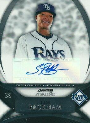 トレーディングカード・テレカ, トレーディングカード  MLB Tim Beckham 2010 Bowman Sterling Prospect Autographs