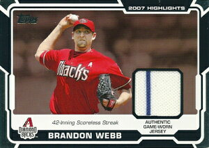 ブランドン・ウェッブ MLBカード Brandon Webb 2008 Topps Highlights Relics