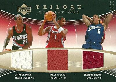 トレーディングカード・テレカ, トレーディングカード  NBA 200607 UD Trilogy Generations Past Present and Future Memorabilia 331333 Clyde Drexler Tracy McGrady Shannon Brown