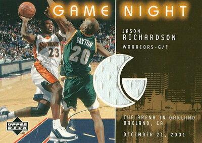 ジェイソン・リチャードソン NBAカード Jason Richardson 02/03 Upper Deck Game Night Jerseys