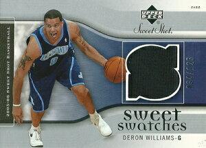 デロン・ウィリアムス NBAカード Deron Williams 05/06 UD Sweet Shot Sweet Swatches 034/125