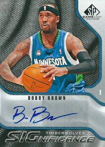 ボビー・ブラウン NBAカード Bobby Brown 09/10 SP Game Used Significance