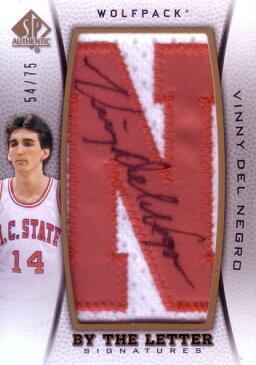 ヴィニー・デル・ネグロ バスケカード Vinny Del Negro 12/13 SP Authentic By the Letter Signatures 54/75