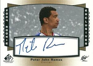 ピーター・ラモス NBAカード Peter John Ramos 04/05 SP Game Used Rookie Exclusives Autographs 031/100