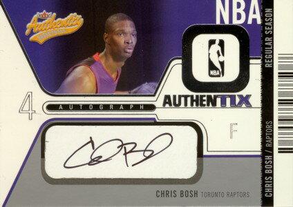 トレーディングカード・テレカ, トレーディングカード Chris Bosh 200304 Fleer Authentix Autographs 325