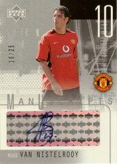 サッカーカード【ルート ファンニステルローイ】直筆サインカード 2003 UD Manchester United ...