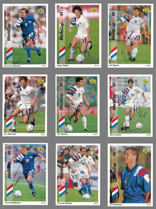 トレーディングカード・テレカ, トレーディングカード UDA 1994USA1994 World Cup Team USA Auto Card Set