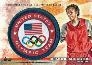 サイモン・オーガスタス オリンピックカード Seimone Augustus 2012 Topps U.S. Olympic Team Olympic Team Patch