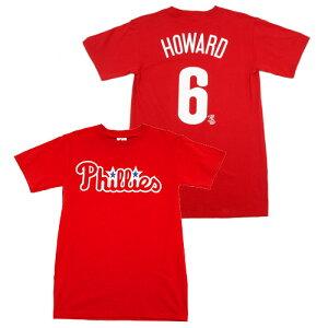 ライアン ハワード MLB ネーム&ナンバー Tシャツ フィラデルフィア フィリーズ #6/レッド (Rya...
