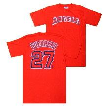 ヴラディミールゲレーロMLBネーム&ナンバーTシャツ(USサイズ)ロサンゼルスエンゼルス#27/レッド(VladimirGuerrero)