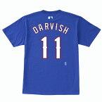 ダルビッシュ有 ネーム&ナンバーTシャツ (レンジャーズ/ブルー/#11) Yu Darvish サイズS