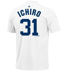 【送料無料】イチロー Tシャツ (ヤンキース/ホワイト/#31) / Ichiro Authentic Player Tshirt J...