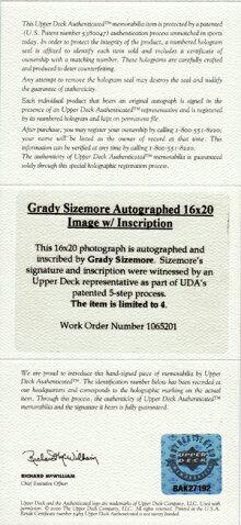 2/1入荷★【グレイディサイズモア】直筆サイン16x20フォト4Straight20/204枚限定!(GradySizemore)(メジャーリーグベースボール)(MLB)