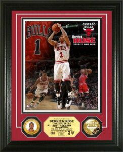 デリック・ローズ MVP獲得記念フォトプラーク Derrick Rose 2010-11 NBA MVP Gold Coin Photo Mint