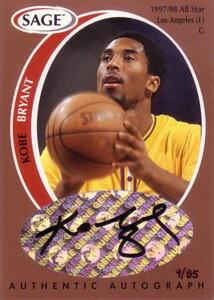 NBAカードをお探しなら!【コービー ブライアント】NBA 1998 Sage Autographs Bronze 85枚限定...