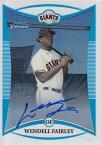 MLBカード【ウェンデル フェアリー】2008 Bowman Chrome Prospects Autograph Refractors 500枚限定! (361/500) (Wendell Fairley)