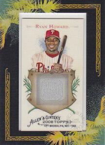 MLBカード【ライアン ハワード】2008 Topps Allen & Ginter Relics Jersey / Ryan Howard