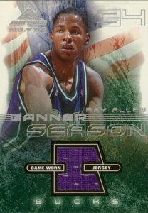 NBAカードをお探しなら!【レイ アレン】2001/02 Fleer Marquee Banner Season Jersey /Ray A...