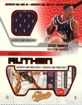 トレーディングカード・テレカ, トレーディングカード  200203 Fleer Authentix Jersey Authentix Steve Francis