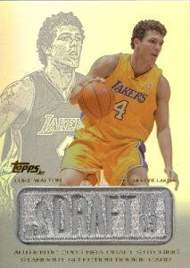 【ルーク ウォルトン】2003/04 Topps Jersey Edition Authentic 2003 NBA Draft Stitching Standout Selection Rookie Card /Luke Walton