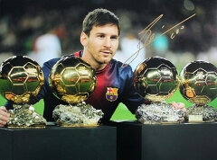 リオネル・メッシ 直筆サイン入りフォト 4th Ballon D'Or / Lionel Messi