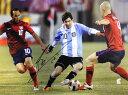 リオネル・メッシ アルゼンチン代表 直筆サイン入りフォト (Lionel Messi Official Signed Argentina Photo: La Pulga Atomica)