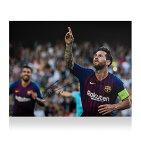 リオネル・メッシ 直筆サインフォト FC バルセロナ UEFA チャンピオンズリーグ ハットトリック vs PSV (Lionel Messi Official Signed Barcelona Photo: UEFA Champions League Hatrick vs PSV) 12/19入荷