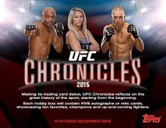 格闘技カード 2015 Topps UFC Chronicles ボックス (Box) 予約、12/2入荷予定! 送料無料