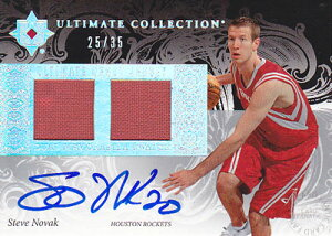 【スティーブ ノバック】 2006/07 UD Ultimate Collection Debut Jerseys Autographs 35枚限定!(25/35)(Steve Novak)(直筆サインカード)