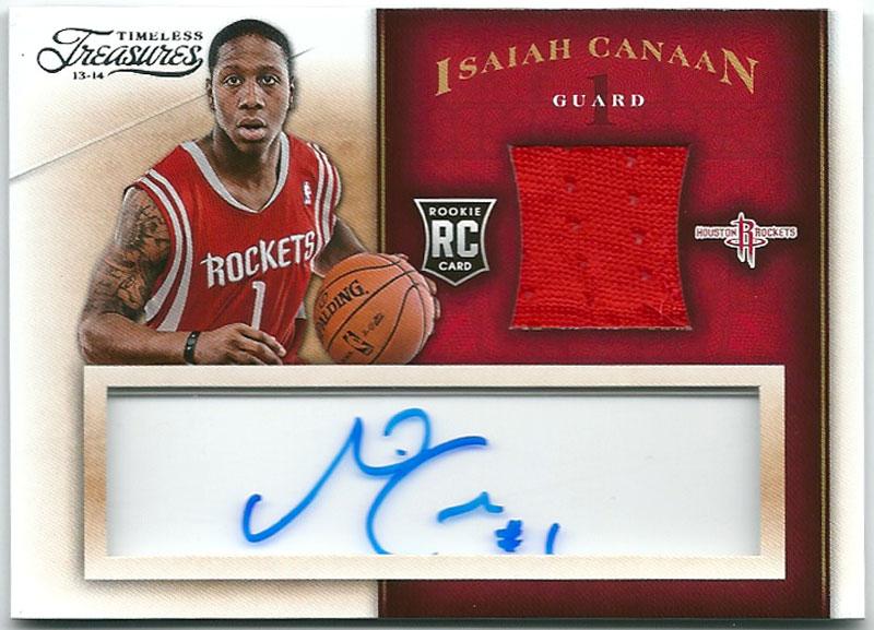 アイザイア・カナン NBAカード Isaiah Canaan 13-14 Panini Timeless Treasures Rookie Jersey Autographs画像