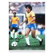 ジーコ直筆サイン入りフォトブラジル代表1982ワールドカップ(ZicoSignedBrazilPhoto:1982FIFAWorldCup)