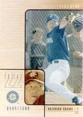 佐々木主浩 2000 SPx Rookie Card /1600 Kazuhiro Sasaki