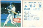 カルビー1987 プロ野球チップス No.45 高木豊(B)