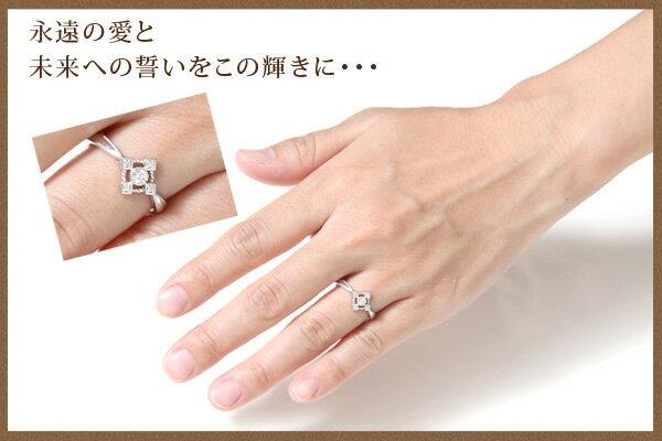 K18ホワイトゴールド・天然ダイヤモンド・アンティークデザインリング【発送目安:2~3週間】