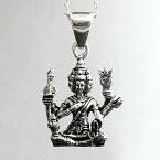ブラフマー インド 神様 お守り 開運 ペンダントトップ ペンダント ペンヘッド シルバーアクセサリー