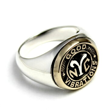 NYC ニューヨーク 地下鉄 トークン コイン リング 指輪 シルバー925 goodvibrations グッドバイブレーション