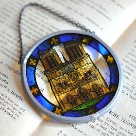 パリ・ノートルダム大聖堂ミニチュアステンドグラスCathedraleNotre-Dame