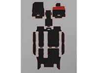 無限スポーツマット【ブラック×レッド】ステップワゴンRP1/RP2/RP3/RP42列目キャプテンシート用