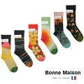 BonneMaisonボンヌメゾンコットンソックスレディース靴下フランス送料無料アニマル