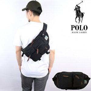 Polo Ralph Lauren ポロラルフローレン バッグ ボディバッグ ウエストバッグサコッシュ ショルダーバッグ メンズ レディース ブラック PoloRalphLauren