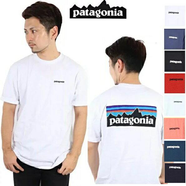 トップス, Tシャツ・カットソー  PATAGONIA T P-6 LOGO RESPONSIBILI-TEE WHI WHITE BLk Black T SHIRTS